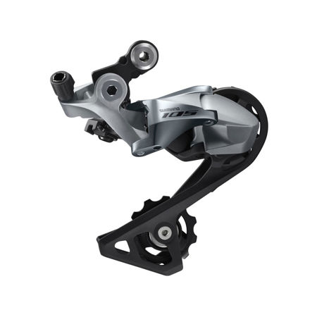 Picture of MJENJAČ II SHIMANO 105 RD-R7000-GS MEDIUM CAGE BLACK 11B SILVER