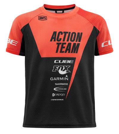 Picture of MAJICA CUBE JUNIOR S/S X ACTIONTEAM ORANGE'N'BLACK