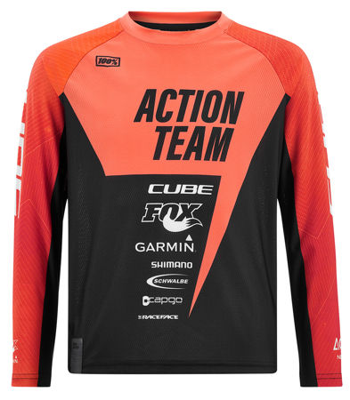 Picture of MAJICA CUBE JUNIOR L/S ACTIONTEAM ORANGE'N'BLACK