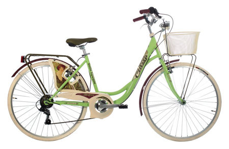 "Picture of CINZIA 26"" BELLE EPOQUE LADY 6B V-BRAKE GREEN"