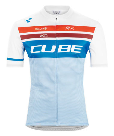 Picture of MAJICA CUBE TEAMLINE COMPETITION S/S WHITE'N'BLUE'N'RED 11156